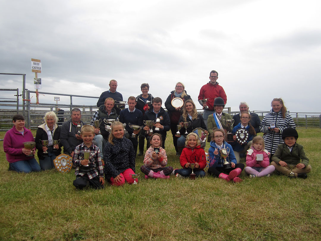 Trophy winners at Tiree Agricultural Society Show